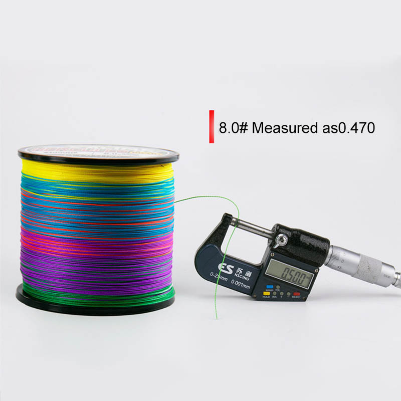 Image 2 - 1000m PE Fishing Line 8 Strands Braided Fishing Line Ultra high Strength Multifilament Fishing Line Smooth JC-in Fishing Lines from Sports & Entertainment