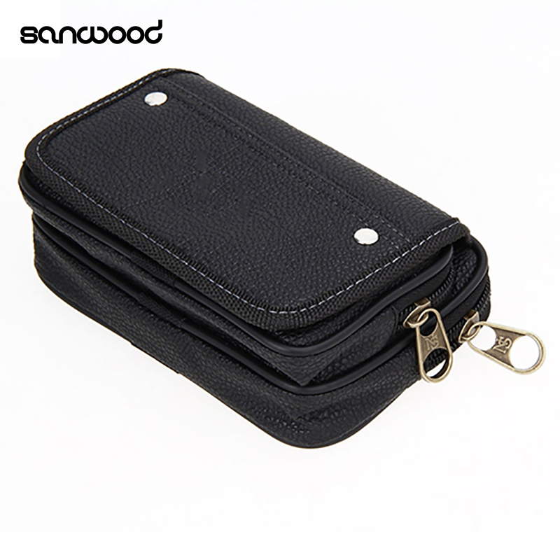 Men's Faux Leather Wallet Credit Card Phone Holder Casual Hanging Belt Purse