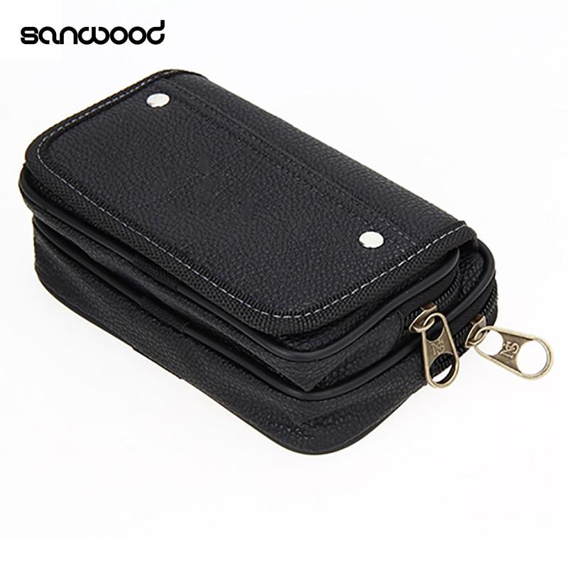 Men's Faux Leather Wallet Credit Card Phone Holder Casual Hanging Belt Purse все цены