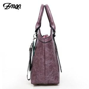 Image 4 - Zmqn bolsas de mão feminina saco 3 conjuntos 2020 combinação do vintage bolsa crossbody para as mulheres couro do plutônio bolsa senhora feminina c653