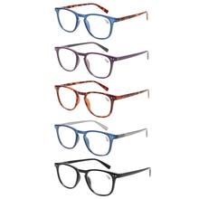 5 pack fashion Reading glasses for men and women spring hinge round frames quality eyeglasses 0.5 1.5 1.75 2.0 2.5