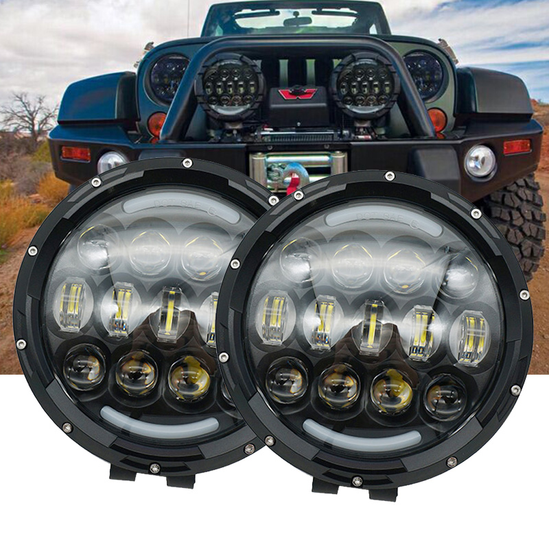 7 Inch LED High/Low Beam Work Light Off Road Fog Driving Light Roof Bar Bumper for Jeep/4x4/Truck/SUV/Cabin/Boat//Car/ATV/Hunter 24 120w cree off road led work light bar flood spot combo beam 3w led 9000 lumen great for jeep cabin boat suv truck car atv