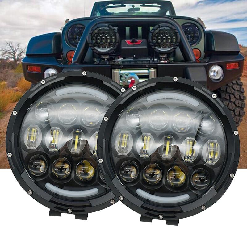 7 Inch LED feux de route/feux de croisement hors route brouillard conduite lumière barre de toit pare-chocs pour Jeep/4x4/camion/SUV/cabine/bateau//voiture/ATV/chasseur