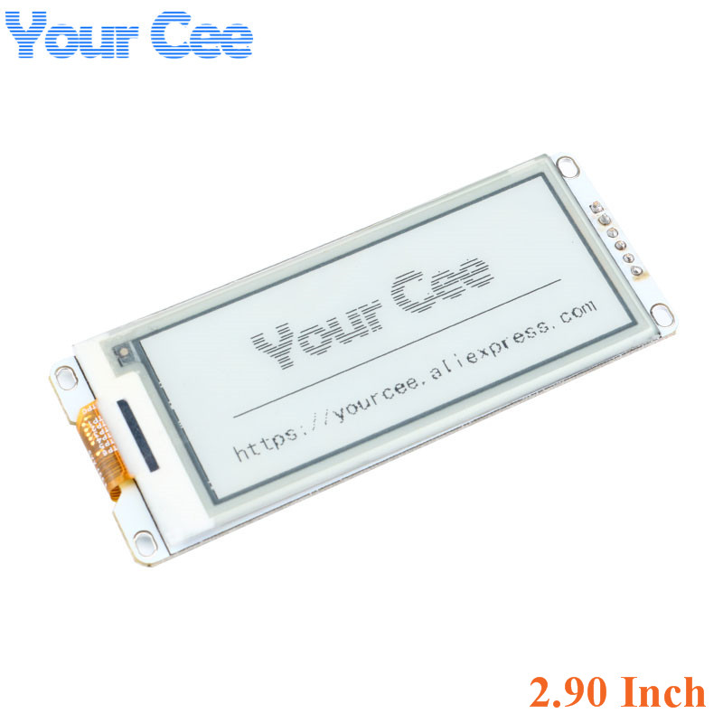 2.90 Inch E-Paper Module E-Ink Display Screen Module Black White Color SPI Support Global/Part refresh Diy For Arduino 2.9 Inch