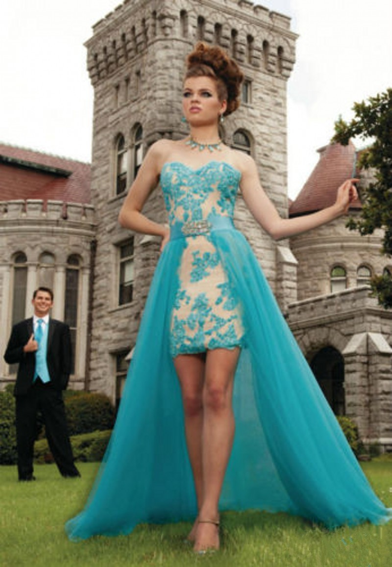 Beautiful Detachable Skirt Prom Dresses Great Design Short Front ...
