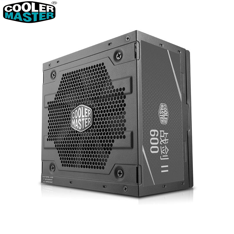Cooler Master no módulo nominal 600 W ordenador silencioso fuente de alimentación voltaje de entrada 200 ~ 240 V certificación de seguridad oficina Juego PC PSU