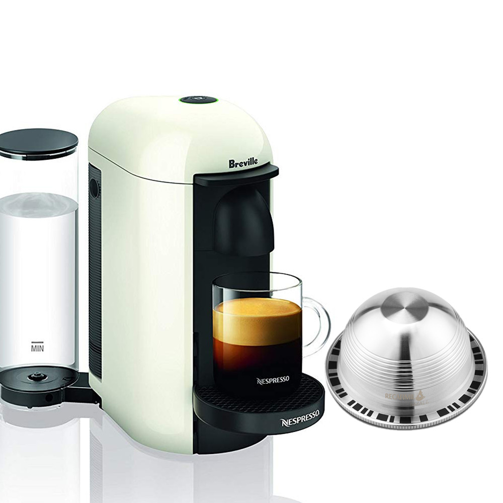 For Nespresso Vertuoline Plus Delonghi Env150 Refillable Reusable Stainless Steel Coffee Filters Coffee Capsule Pod