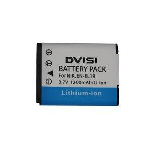 Image 1 - 3.7V 1.2Ah EN EL19 ENEL19 Bateria Da Câmera para Nikon Coolpix S3100 S3200 S3300 S4100 S4200 S4300 S4400 S5200 S6400 S6500
