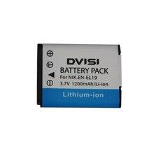 Batería para cámara Nikon Coolpix S3100 S3200 S3300 S4100 S4200 S6400 S6500, 3,7 V, 1,2 Ah, EN EL19, ENEL19