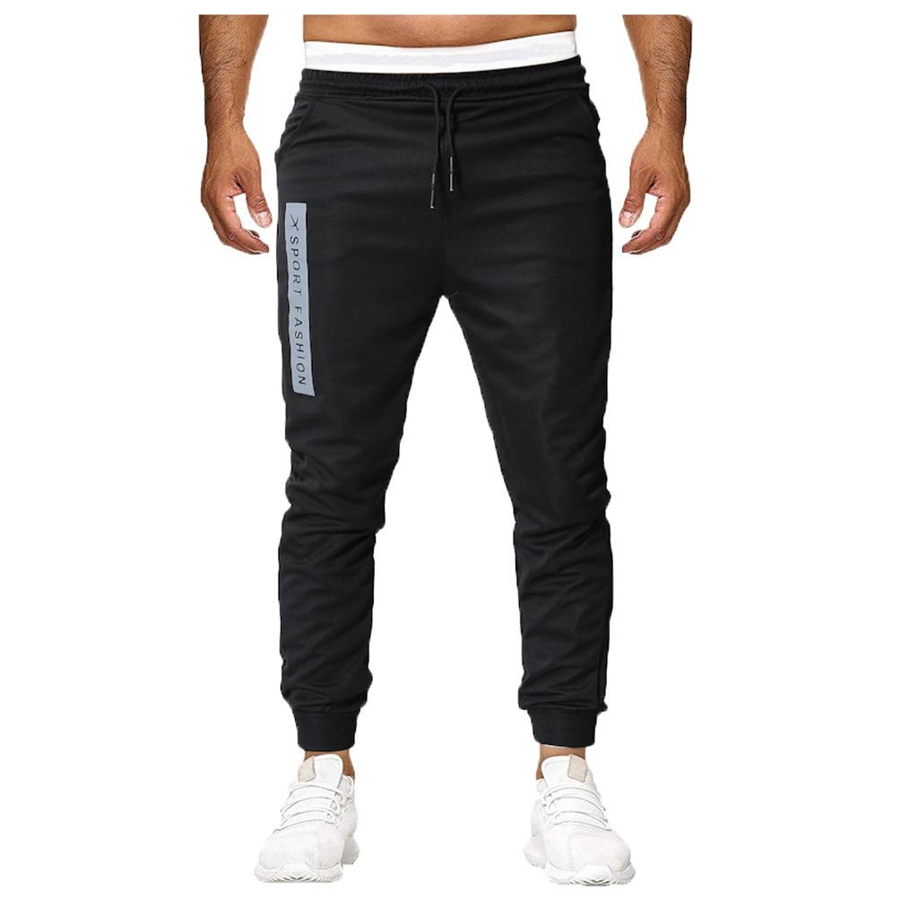 Men Pants Hip Hop Harem Joggers Pants New Male Trousers Mens Joggers Solid Multi-pocket Pants Sweatpants Side print M-5XL 5.8A