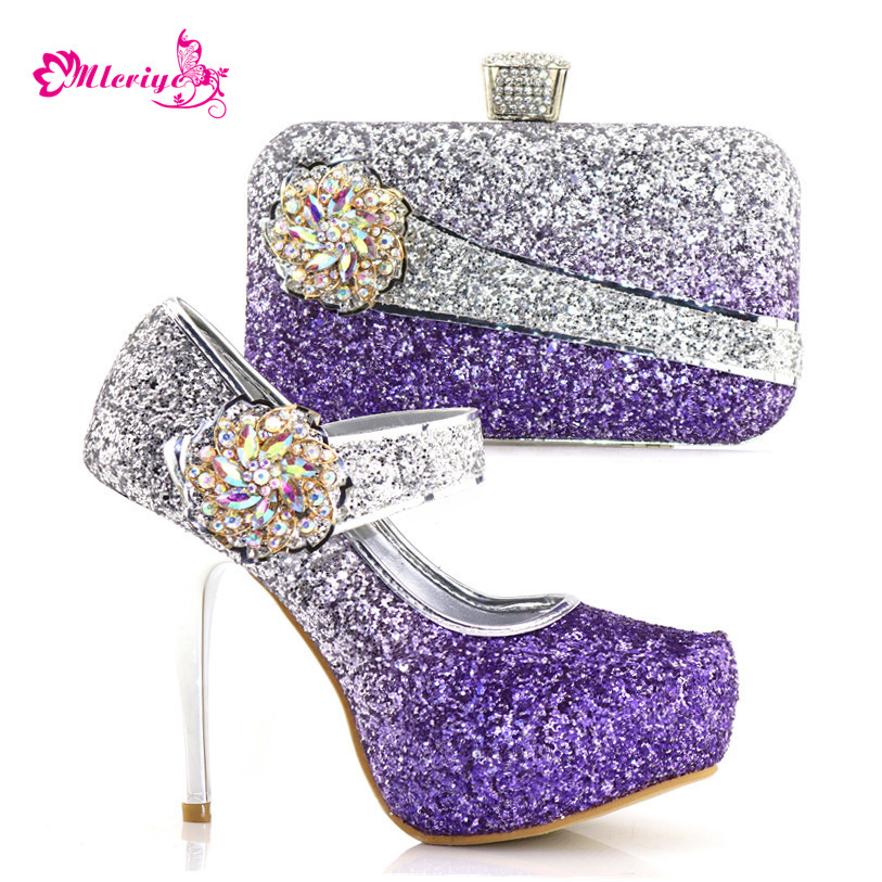 8886-1 Italian Matching Shoes and Bag Set African Wedding Shoe and Bag set Italy Shoe and Handbag Summer Set Women purple shoes purple african shoe and bag set italian shoe with matching bag shoes and bag set ladies matching shoe and bag italy for wedding