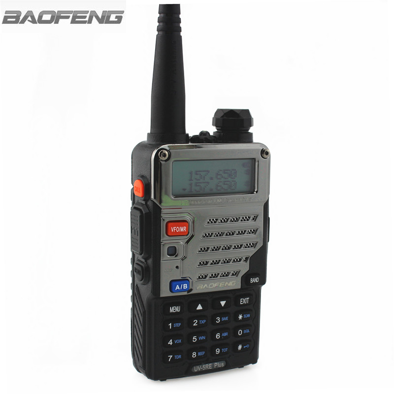 BaoFeng Walkie Talkie  UV-5RE Plus Portable Ham Amateur Handheld Two Way Radio Dual Band 136-174&400-520MHz Radios VHF UHF