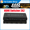 HDMI Switcher splitter 2X2 with remote control supports 3D&full HD1080p