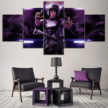 5 Piece HD Printed Video Games Tom Clancys Rainbow Six Picture Canvas Oil Painting for Home Decor Wall