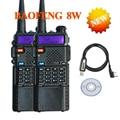 2 PCS Baofeng mini walkie talkie two way radio UV8HX 8w ham transceiver,sister talkie walkie baofeng uv-b6 uv-5re uv b5+cable