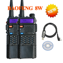 2 PCS Baofeng mini walkie talkie two way radio UV8HX 8w ham transceiver,sister talkie walkie baofeng uv-b6 uv-5re uv b5+cable