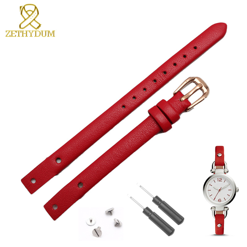 Genuine leather bracelet strap women fashion watchband small band 7mm 8mm for fossil