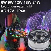 IP68 RGB LED подводный светодиодный свет бассейн 6 Вт 9 Вт 12 Вт 18 Вт 12 В spot led фонари фонтан Бассейны лампы Зеленый красные, синие желтый