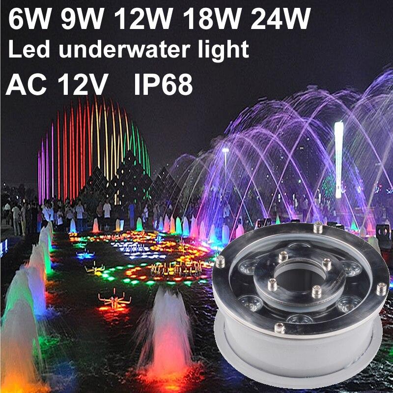 IP68 RGB Led Undervands Lys Led Pool Lys 6W 9W 12W 18W 12V Spot Led Fountain Lights Svømning Lampe Grøn Rød Blå Gul