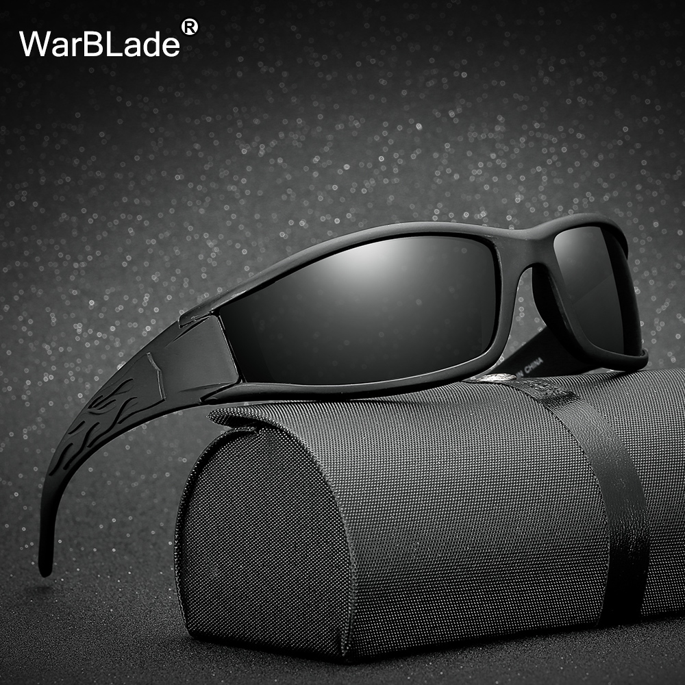 Mens Polarized Sunglasses Black Night Driving Safety Sun Glasses 2018 New Hot Sale Mirror Goggles UV400 Eyewears WarBLade