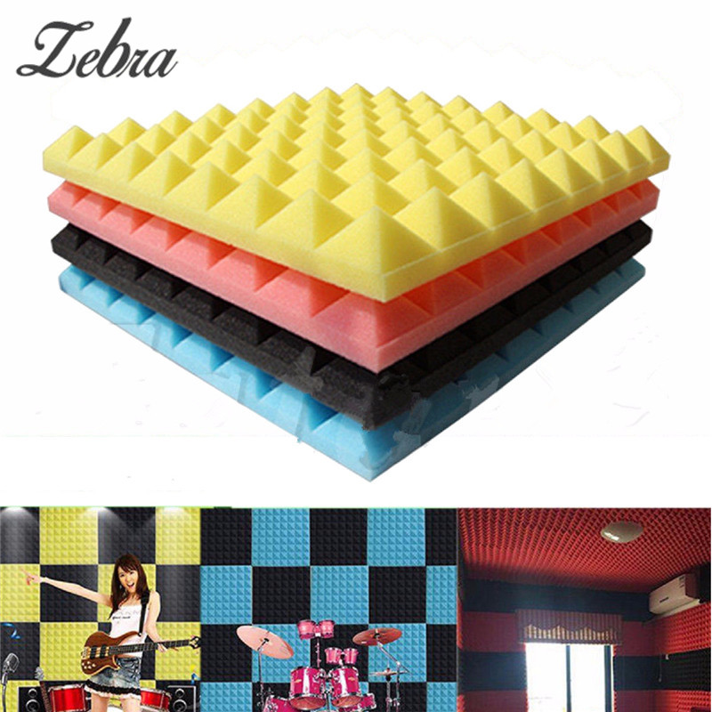 Acoustic Soundproof Sound Stop Absorption Pyramid Wedge Tiles Foam Studio Foam Sponge 4 Colors 50 x 50 x 2cm Drum Room Accessory