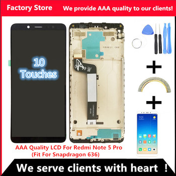 10-Touch AAA Quality LCD+Frame For Xiaomi Redmi Note 5 Pro LCD Display Screen Replacement For Redmi Note 5 LCD Snapdragon 636