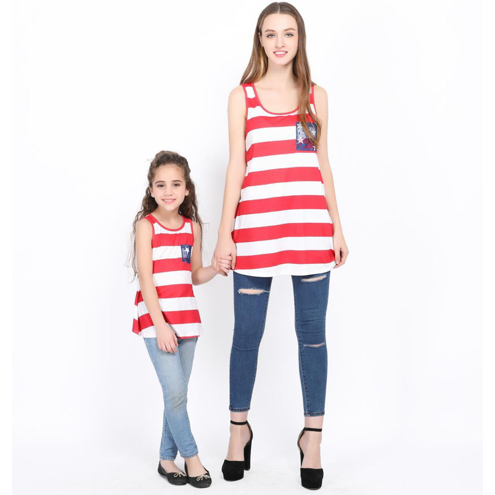 Household matching mom daughter Lace Backless T-Shirts mother and daughter striped T-Shirts children mum or dad youngster outfits Matching Household Outfits, Low-cost Matching Household Outfits, Household matching mom daughter...