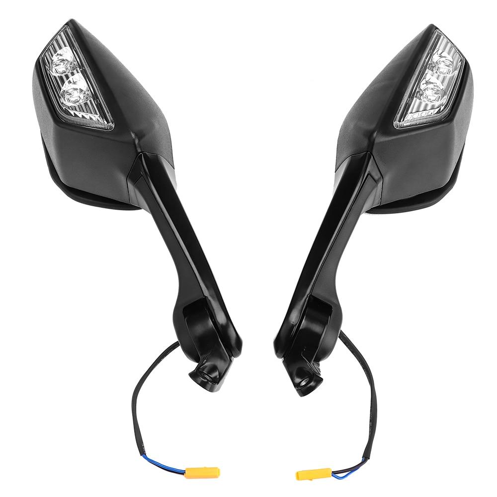 For Kawasaki ZX 10R Motorcycle Mirror LED Turn Light Signals Moto Rear View Mirrors for Kawasaki