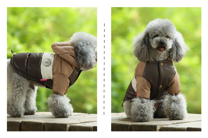 Waterproof and Hooded Dog Jacket with Leash Hole Ideal for Autumn/Winter Season 18