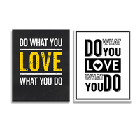 Do What You Want To Do What You Love To Do Canvas Painting English Quote Saying