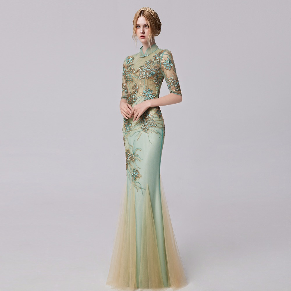 Embroidered Long Prom Dresses