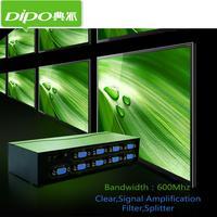DIPO 8 Port VGA Splitter 600mhz 1 PC To 8 VGA Monitor TV Video Splitter 8Port