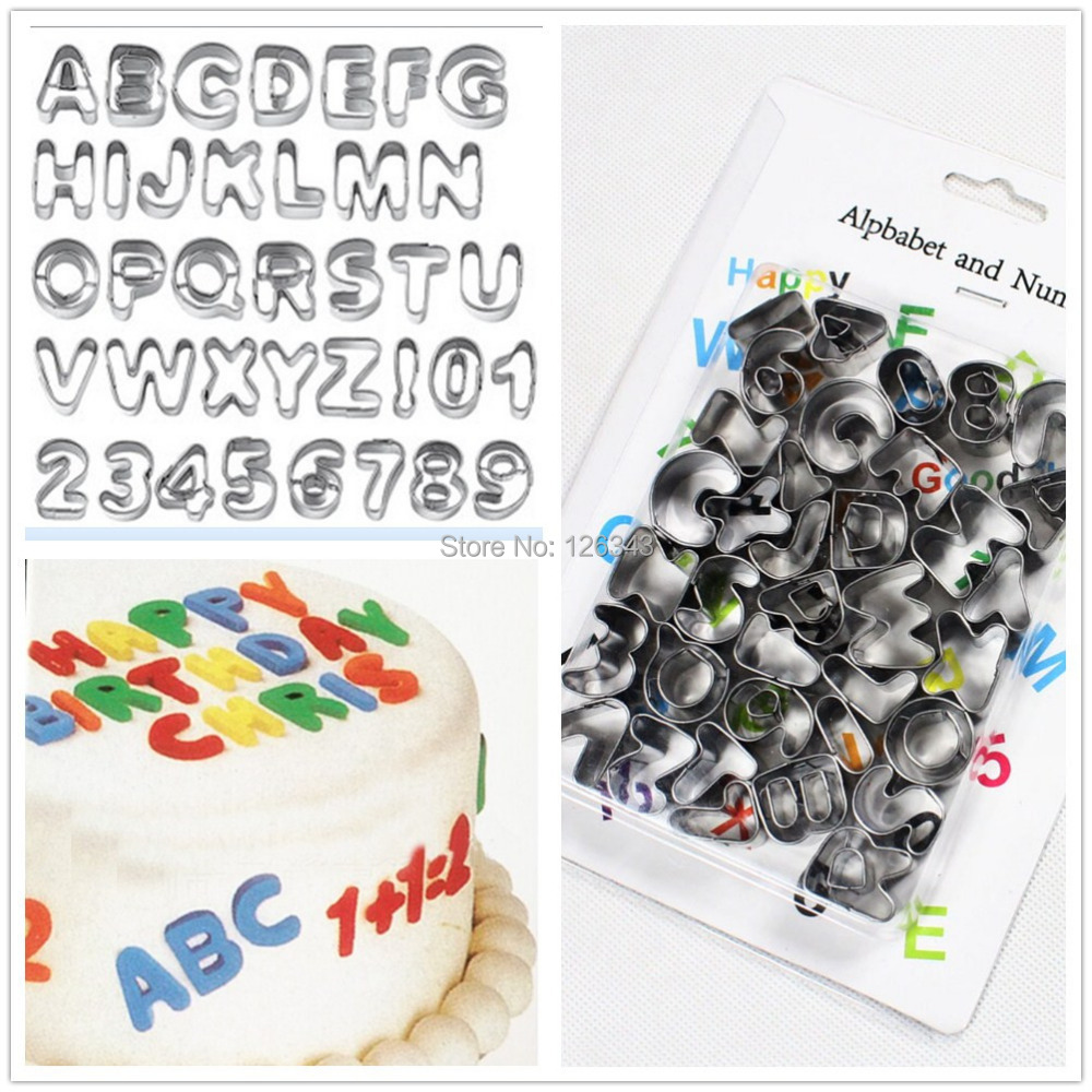 Alphabet Letter Pastry Fondant Icing Cutter Set 37 Piece Cake Decorating Mould