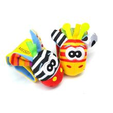 1PC Wrist Rattle Educational Toy Baby Cartoon Stereo