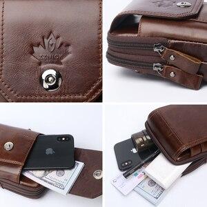 Image 5 - Hakiki Deri Bel Paketleri Paketi bel çantası Çanta Telefon kılıflı çanta Seyahat Bel Paketi Erkek Bel erkek çanta Moda Flep