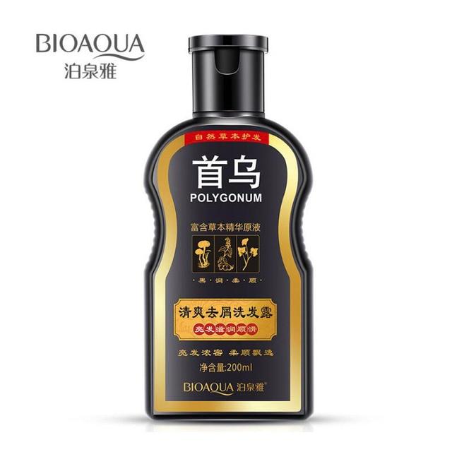 BIOAQUA Shampoo Anti Caspa Cabelo Brilhante Cabelo Tratamento do Couro Cabeludo Shampoos Cuidados Com Os Cabelos Hidratante de Controle de Óleo Shampoo Preto