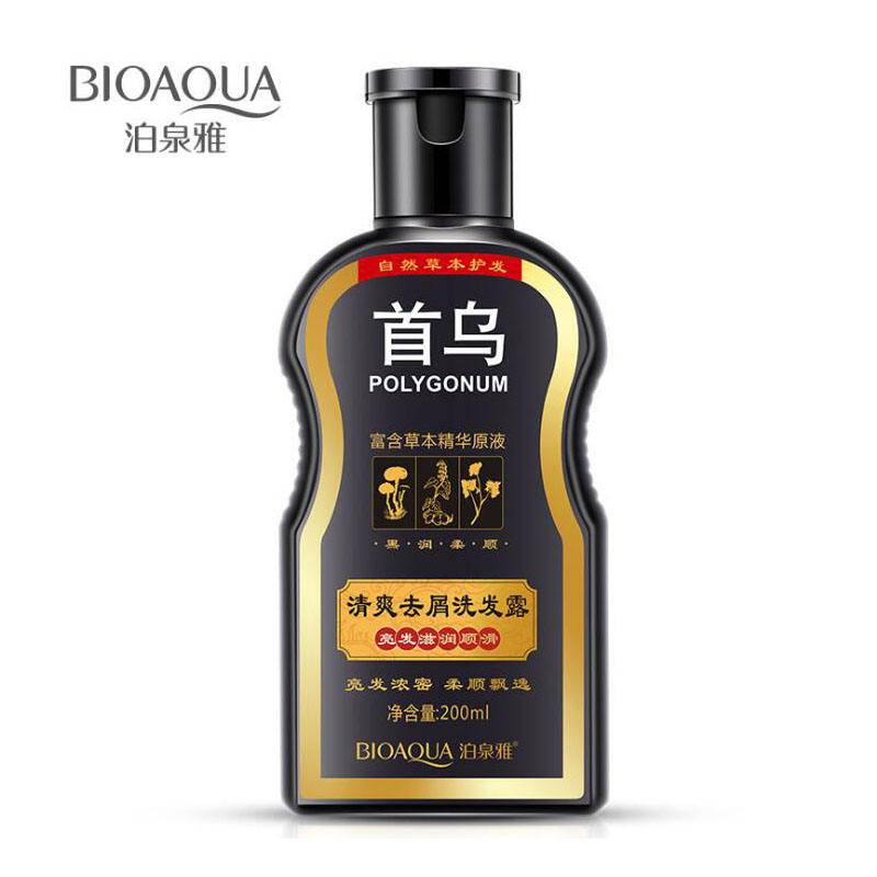 BIOAQUA Shampoo Anti Dandruff Hair Glossy Hair Scalp Treatment Shampoo Black Hair Care Moisturizing Oil Control Shampoos ship from usa portable height adjustable shampoo basin hair bowl salon treatment tool