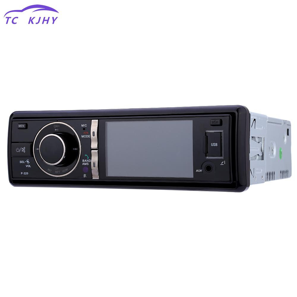 Autoradio 3 Inch Digital Tft Screen Car Audio Stereo Dvd Player 12v Auto Video Remote Control Camera With Fm Function Player zeepin 13 3 inch car multimedia roof mount player 1080p 120 degree rotating screen ir fm remote control wireless games auto dvd