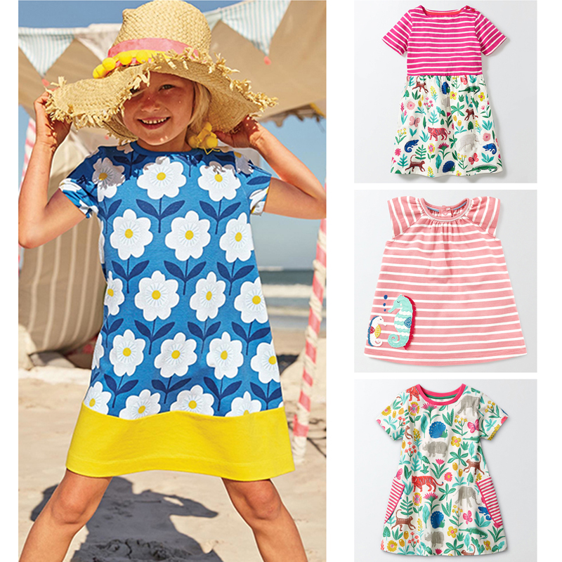 New 2018 Brand Quality 100% Cotton Baby Girls Dress Kids Children Clothing Baby Girl Clothes Summer Bebe Kids Dress Girl t shirt