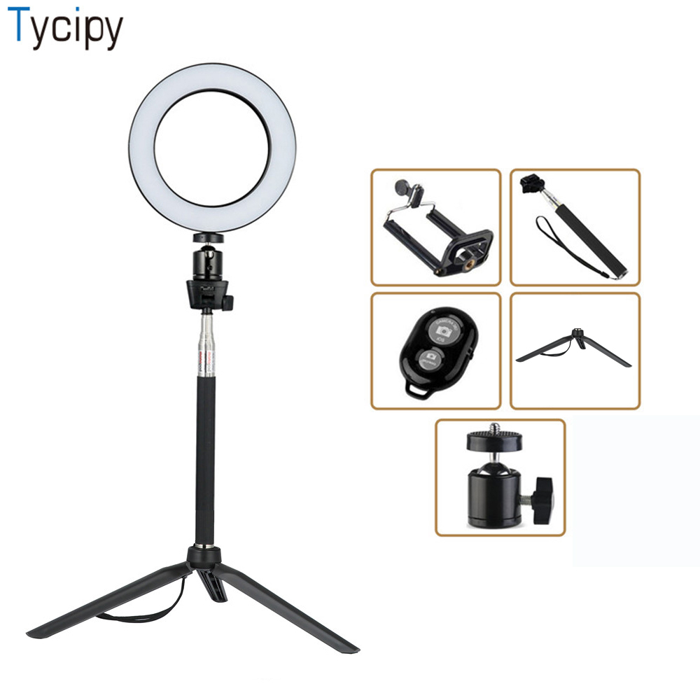 Tycipy Ring Light LED Photography Selfie Light Photo font b Camera b font Video Table Mini