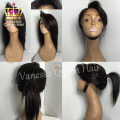 Straight hair synthetic lace front wig black color glueless heat resistant synthetic lace front wig for black women stock wig