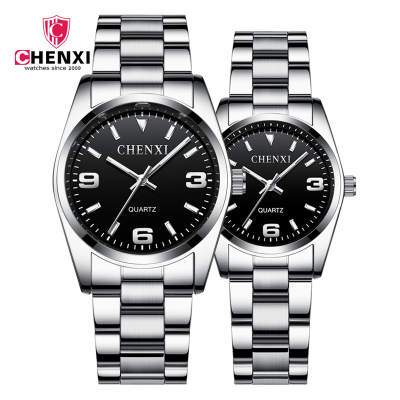 CHENXI Top Brand Luxury Couple Watch Men Women Valentine Clock Couple Watches Waterproof Wrist Watch Reloj Mujer Hombre