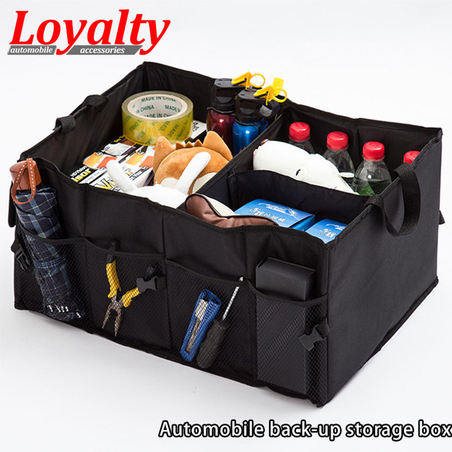 Loyalty Car Trunk Organizer Foldable Car Storage Container with Two