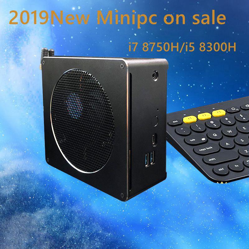 2019 Newset Core 8th Gen mini pc win10 i7 8750 H/i5 8300 H Inetel UHD Graphique 630 2.4G /5G AC wifi 4 K mini 6 Core pc de jeu