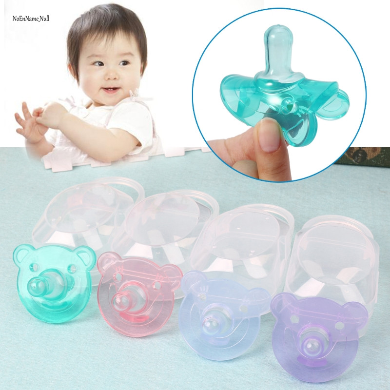 Silicone Nipple Dummy Baby Soother Infant Teether Baby Pacifier With Storage Box baby pacifier soother silicone dummy baby biter teether soother nipples t026