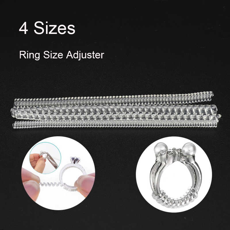 4 Sizes Ring Sizer Adjuster Ring Sizer Jewelry Reducer Guard Fitter Tools