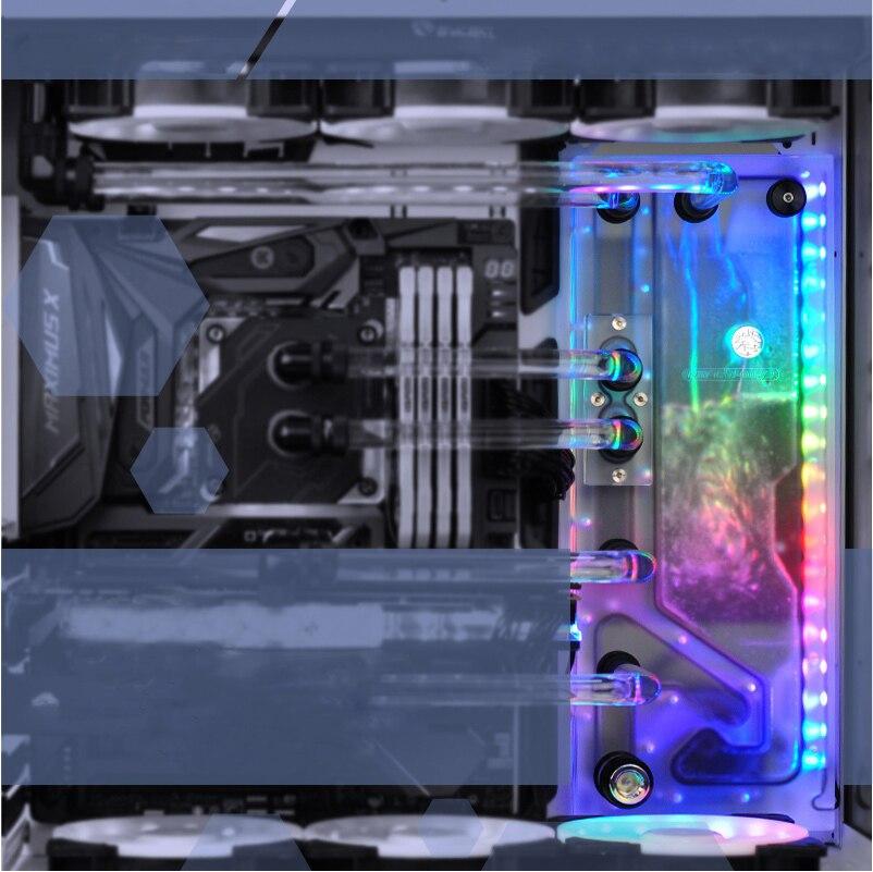 BYKSKI акриловый лист Воды Канала решение использовать для LIAN LI O11 динамический чехол для Процессор и GPU Блок/3PIN RGB/Combo DDC насос
