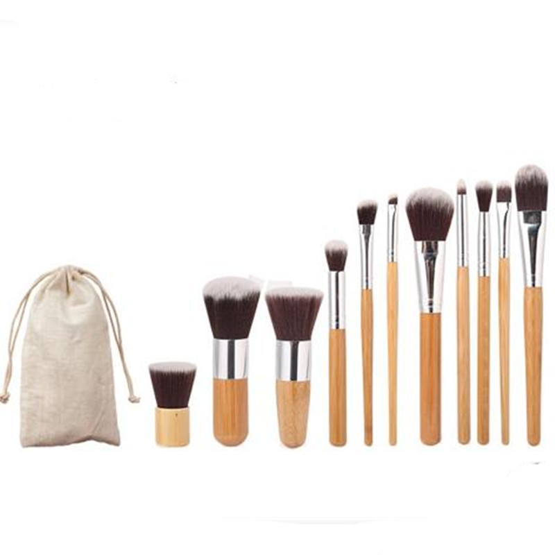 Professional MakeUp Tools Pincel Maquiagem Wood Handle Makeup Cosmetic Eyeliner Eyeshadow Foundation Concealer Lip Brush Set Kit acevivi 12pcs makeup brush kit professional cosmetic set powder foundation eyeshadow eyeliner lip brush tool pincel maquiagem