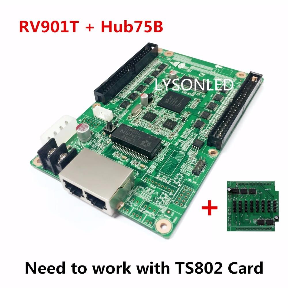 LINSN RV901 RV901T Receiving Card HUB75B Adapter LINSN RV901 Receiving Card and HUB75B Board