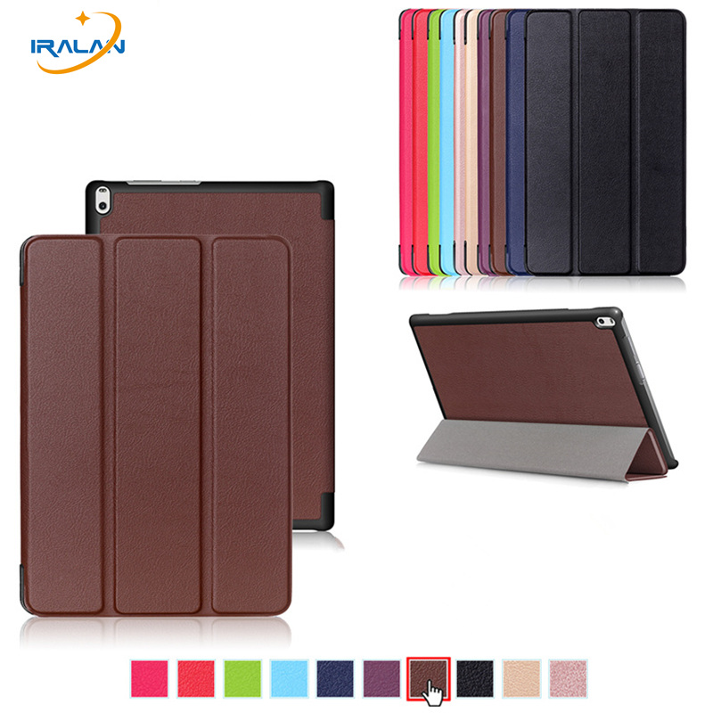 New PU Leather Stand Slim Smart Case For Lenovo TAB 4 10 Plus TB-X704N TB-X704F Tablet Flip Folio protective cover+film+pen+OTG new slim folio bracket for lenovo a7 20f standing tablet cover for lenovo tab 2 a7 20 flip protective tablet case